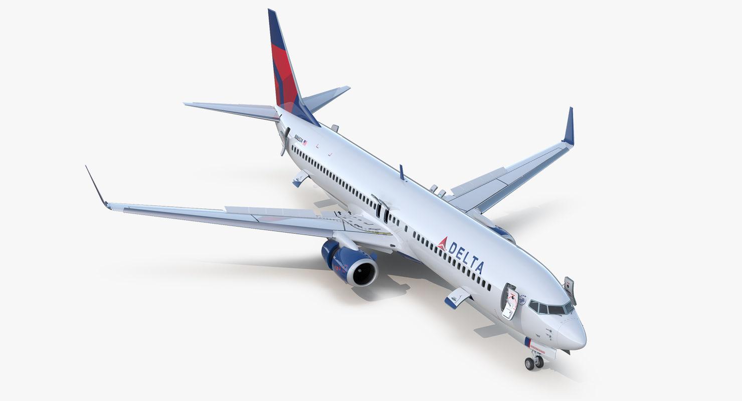 boeing 737-900 er delta 3D model
