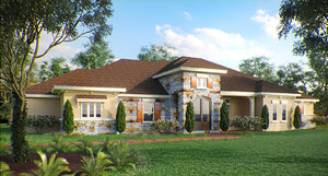 3D photorealistic corona house