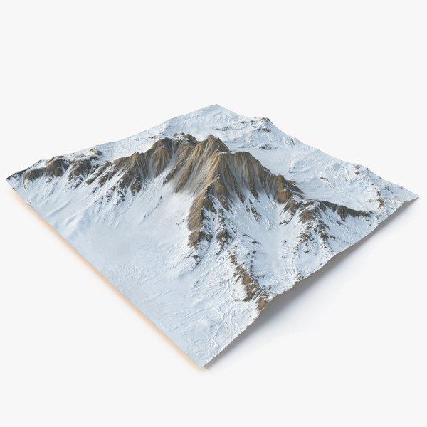 snowy mountain -2 snow model