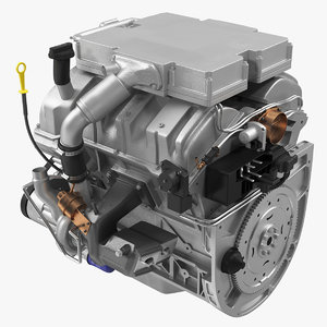 3D model v6 car engine 3