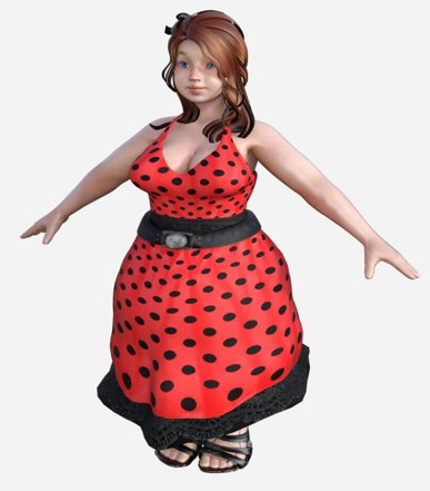 3D model dress big girl games