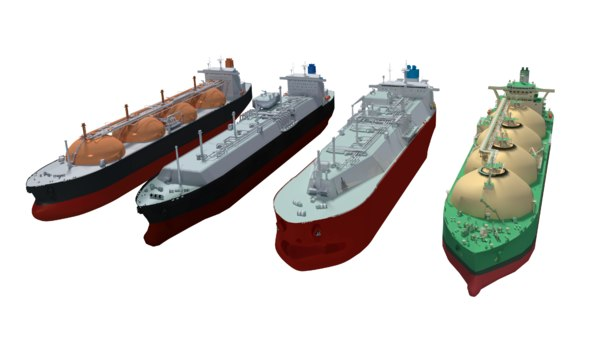 lng carriers 3D model