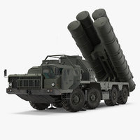 S-300 Russian SAM System Rigged 3D Model