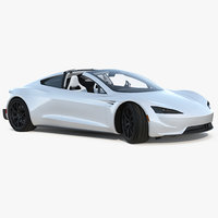 tesla roadster 2017 rigged 3D model