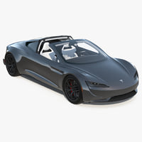 3D tesla roadster 2017