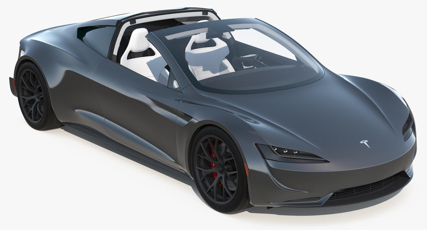 3d tesla roadster 2017 turbosquid 1252052. Black Bedroom Furniture Sets. Home Design Ideas