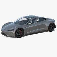 3D tesla roadster simple interior model