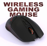 wireless gaming mouse 3D model