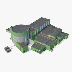 nuclear power plant reactor 3D model