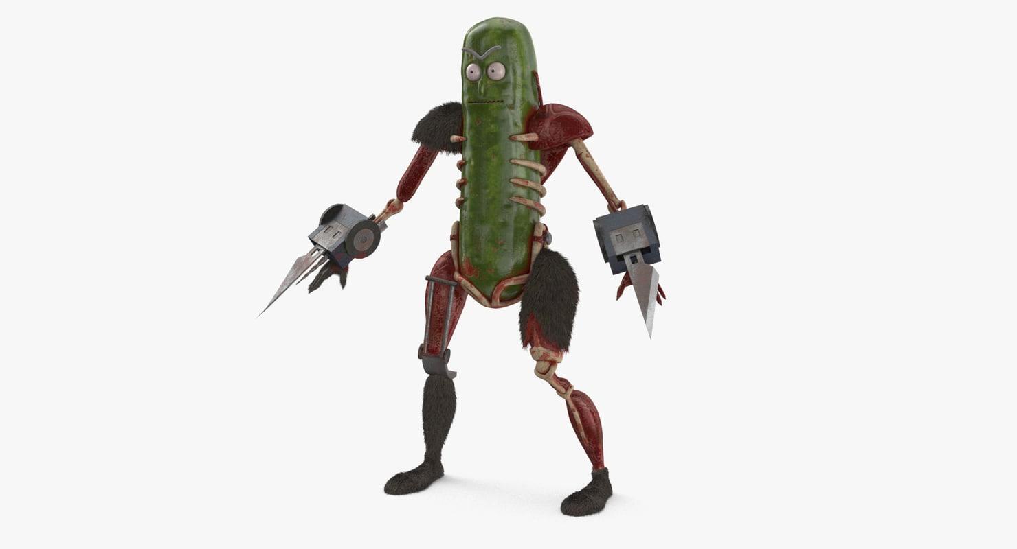 3D model pickle rick