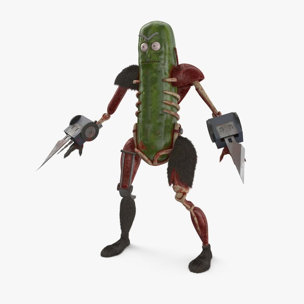 3D model pickle rick