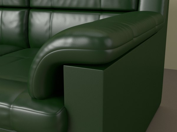 3D sofa office leather model