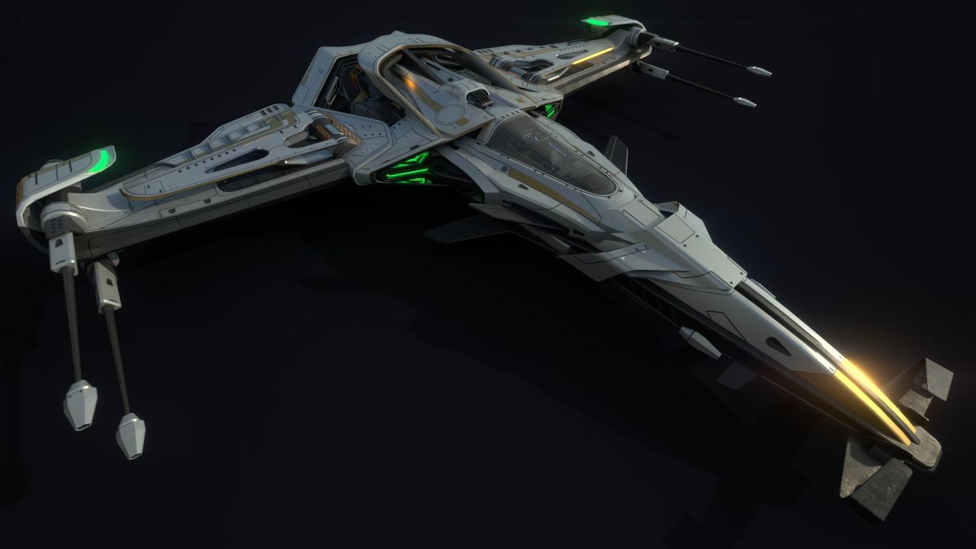 3D spaceship ship model
