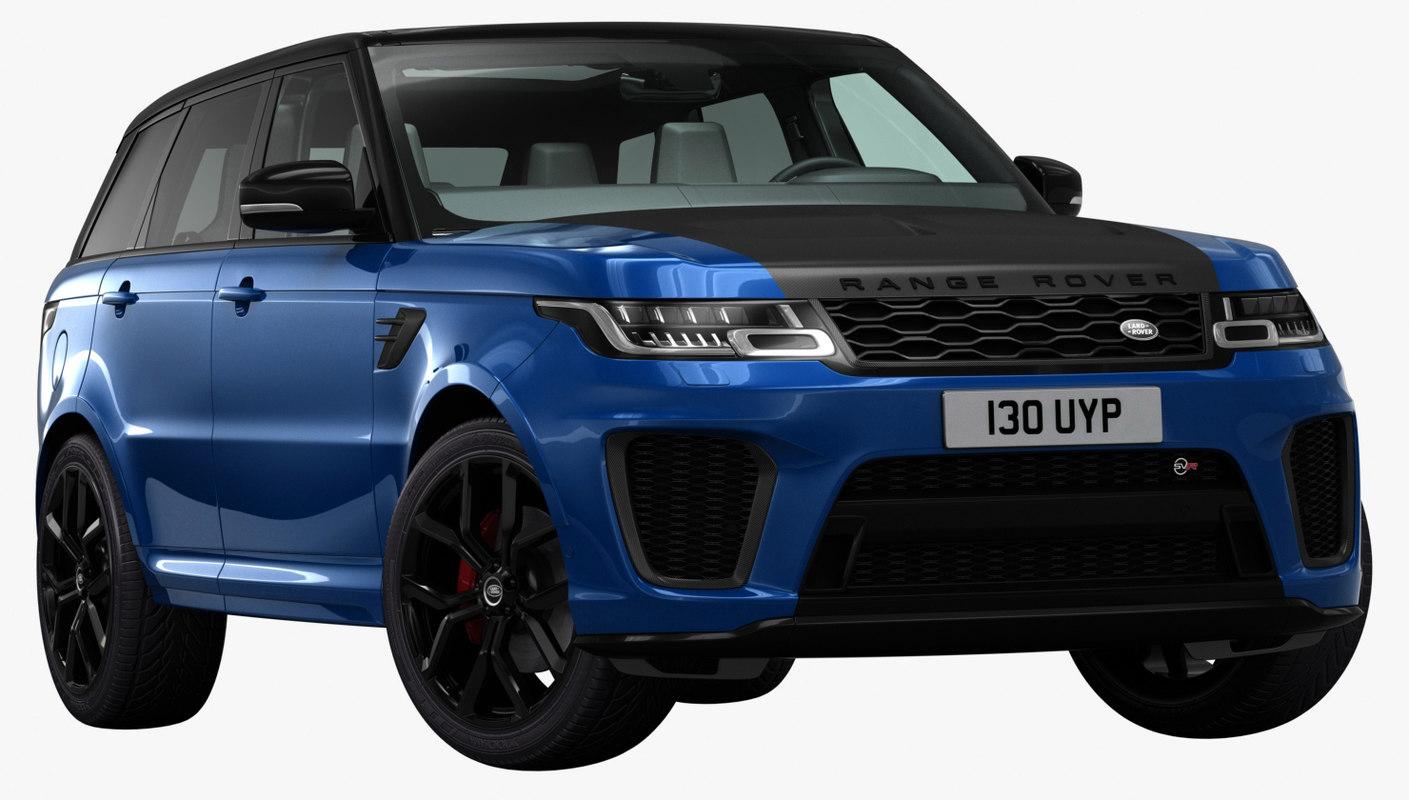 3d model 2018 land rover range turbosquid 1237426. Black Bedroom Furniture Sets. Home Design Ideas