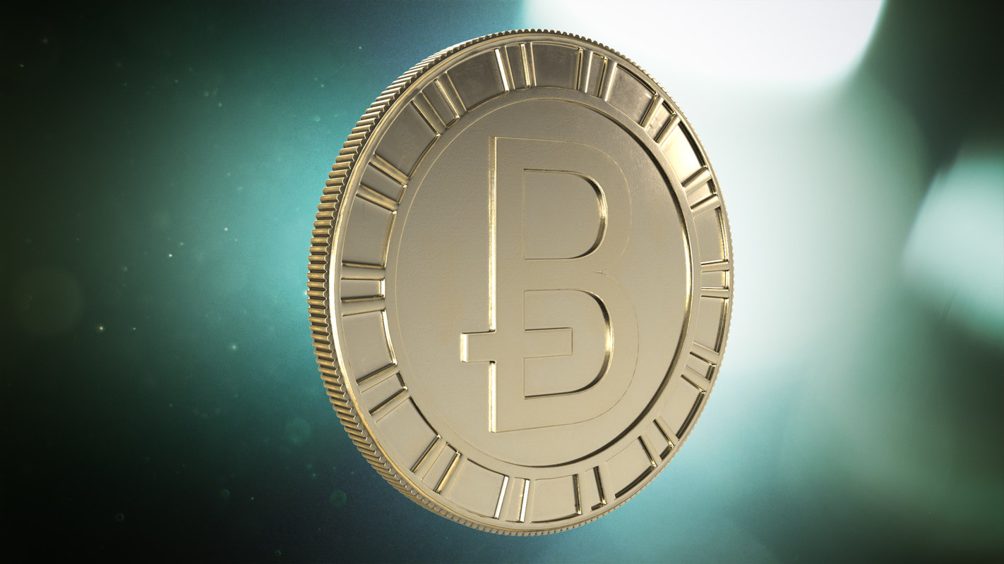 3D bitcoin pbr games model
