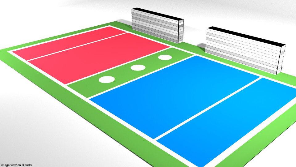 court dodgeball 3D model