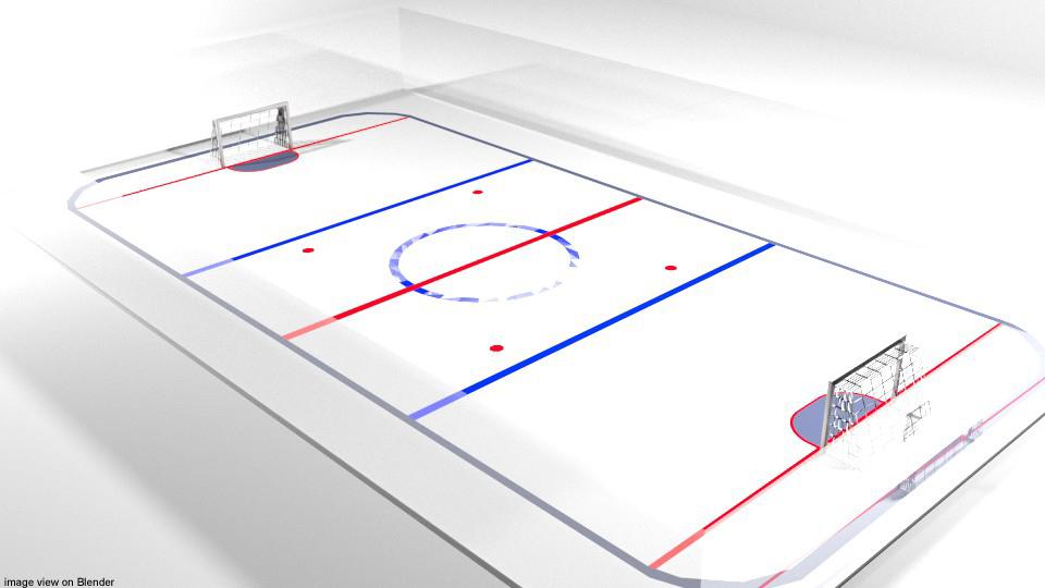 court hockey ice model