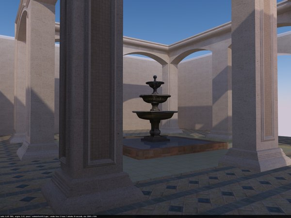 fountain andalusia 3D