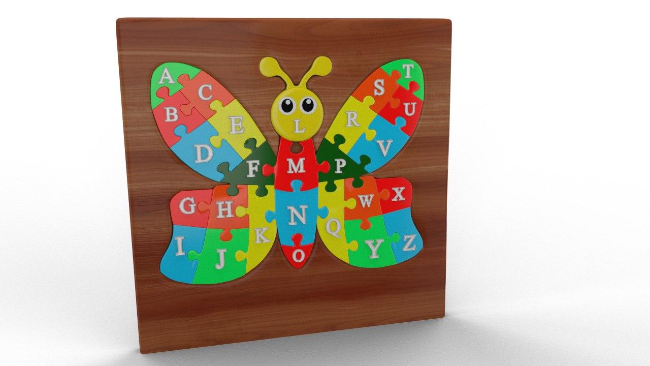abcd puzzle 3D model