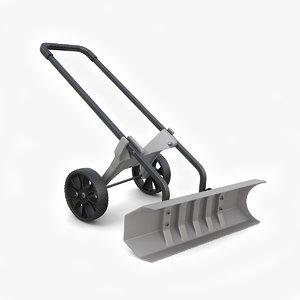 3D rolling snow shovel