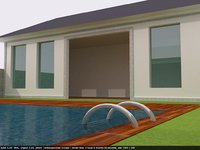 3D central bali chalet swimming pool
