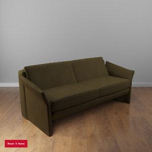 3D amaretto recor couch model