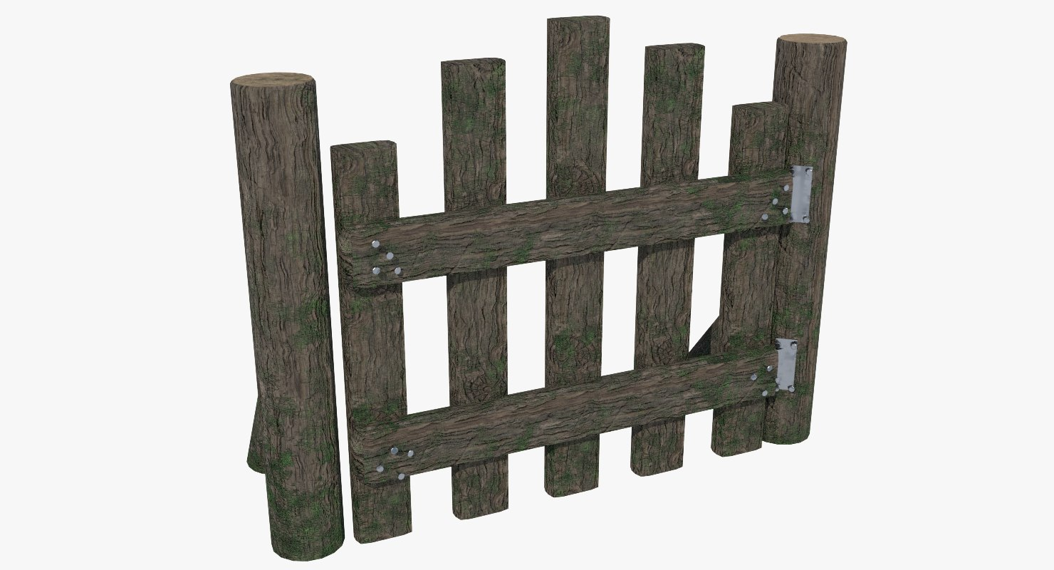 3D fence gate wood