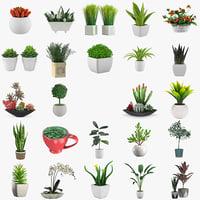 24 Plant 3D models