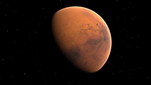 3D model mars planet