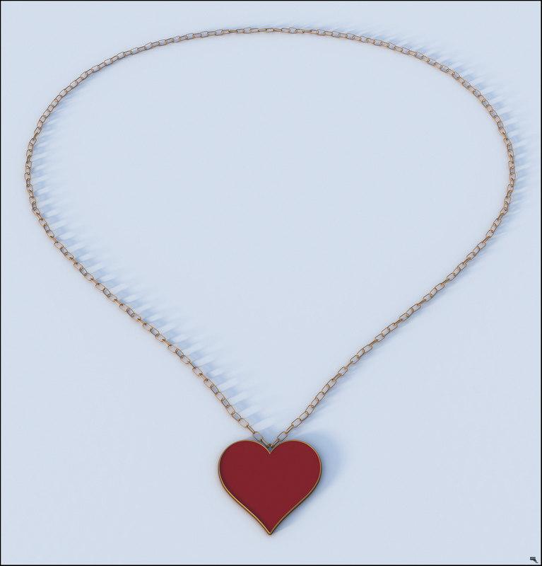 necklace valentine 3D model