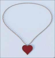 necklace valentine 3D model