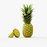 cut pineapple 3D