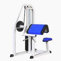 bicep curl machine model