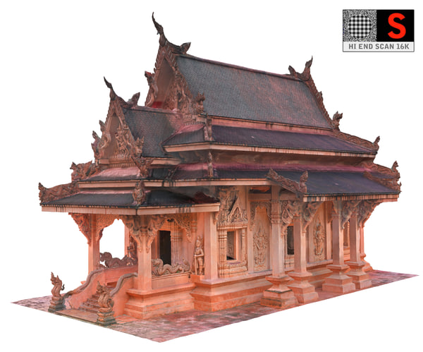 ancient temple 16 k 3D model