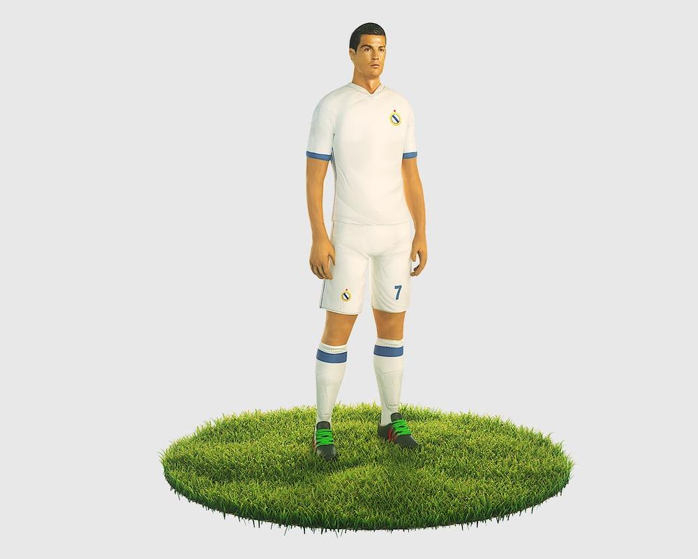 3D model ready football soccer ronaldo