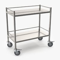 3D stainless steel cart