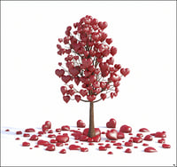 3D tree valentine love model