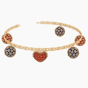 gold bracelet 3D model