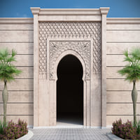 3D ornamental islamic arch