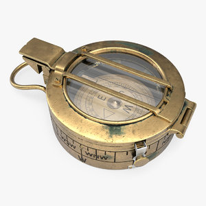 3D old compass model