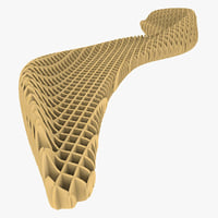 Parametric Bench With Ribs Structure