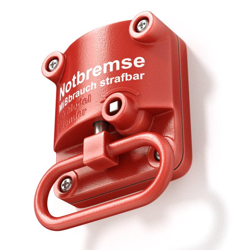 3D model brake emergency hand