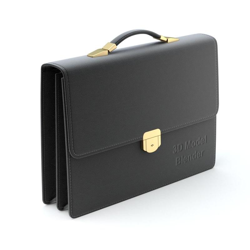 3D briefcase brief case