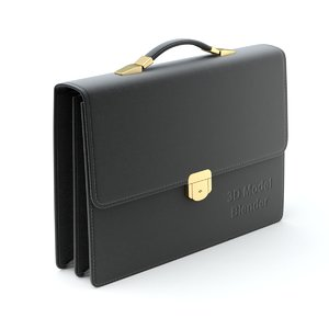 3D briefcase brief case