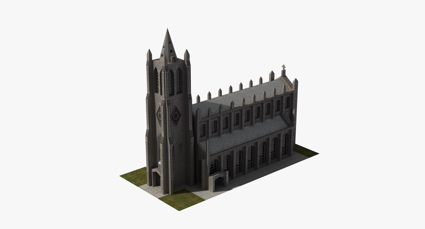 3D christian church model