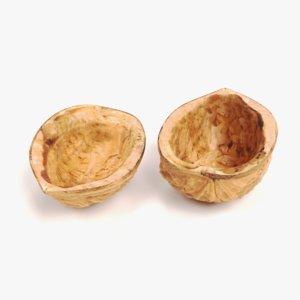 walnut shells 3D model