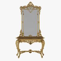 3D morello gianpaolo baroque console