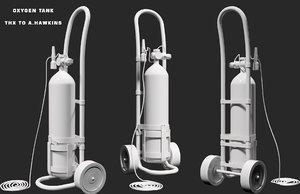 oxygen tank 3D model