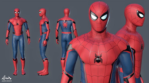 spider-man homecoming 3D model