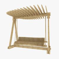 bench parks parametric 3d c4d